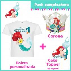 Pack Cumpleaños La Sirenita...