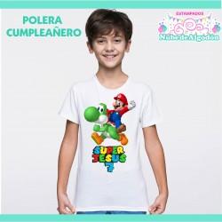 Polera Mario Bross y Yoshi...