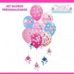 Set Globos Cumpleaños Baby...