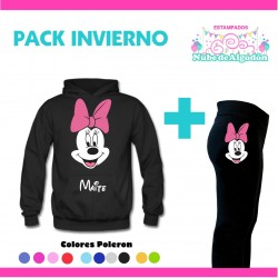 Pack Minnie Poleron + Calza...