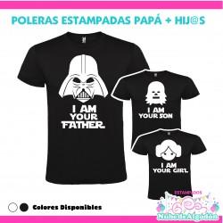 Pack Poleras Papa e hijos...