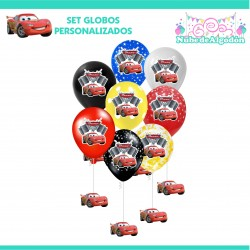 Set Globos Cumpleaños Cars...