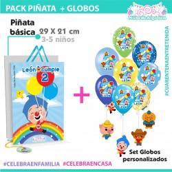 Set Piñata-Globos Plim Plim...