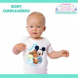 Body Mickey Bebe Estampado...