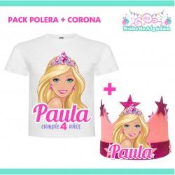 Pack Barbie Polera Corona...