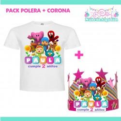 Pack Pocoyo Polera Corona...