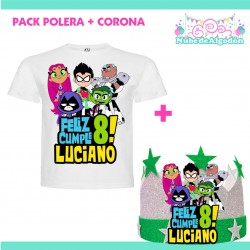 Pack Jovenes Titanes Polera...