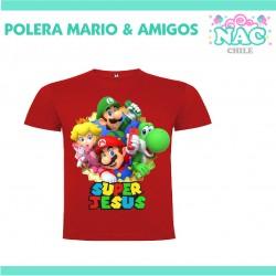 Polera Mario Luigi Yoshi...