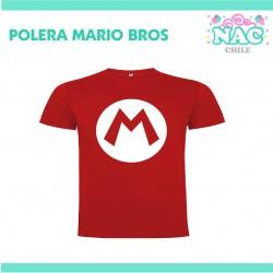 Polera Mario Bross Logo...