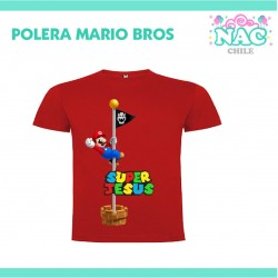 Polera Mario Bross Bandera...