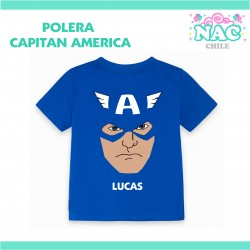 Polera Capitan America Cara...