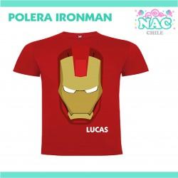 Polera Iron Man Cara...