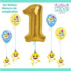 Set Globos Numero 1...