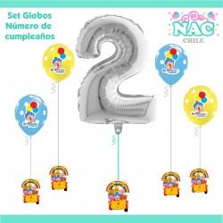 Set Globos Numero 2...