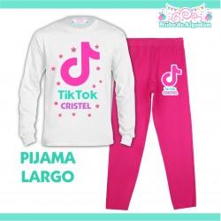 Pijama Tik Tok Largo Niño...