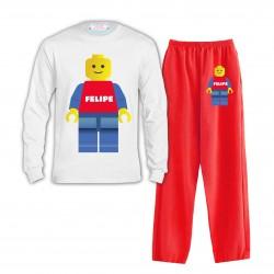 Pijama Lego Largo Niño Niña...