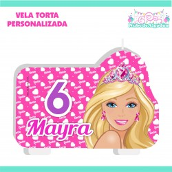 Vela Torta Barbie...