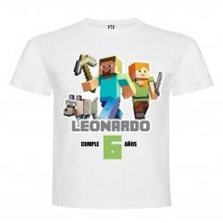 Polera Minecraft Estampada...