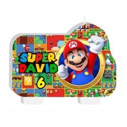 Vela Torta Super Mario Bros...