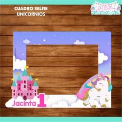 Cuadro Selfie Unicornio...