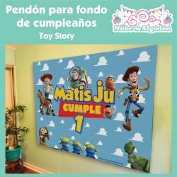 Pendón Toy Story Cumpleaños...