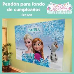 Pendón Frozen Elsa / Ana...