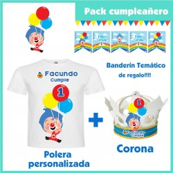 Pack Cumpleaños Payaso Plim...