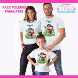 Pack Paw Patrol Poleras...