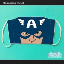 Mascarilla Capitán América...
