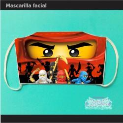 Mascarilla Ninjago Lego...