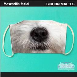 Mascarilla Bichon Maltés...